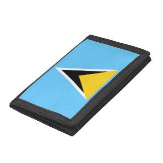 Saint Lucia Flag Tri-fold Wallets