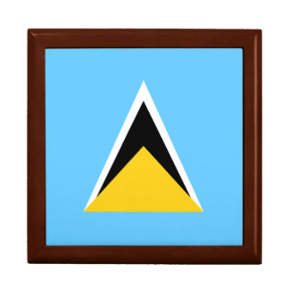Saint Lucia Flag Trinket Box
