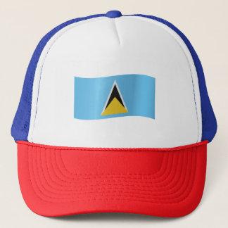 Saint Lucia Flag Trucker Hat
