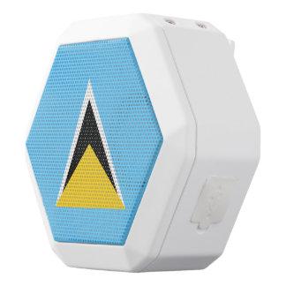Saint Lucia Flag White Bluetooth Speaker