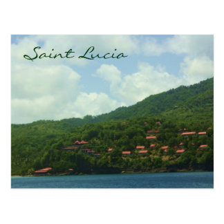Saint Lucia Hillside Village Postcard