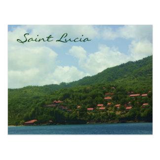 Saint Lucia Hillside Village Postcard
