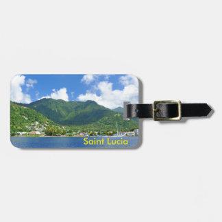 Saint Lucia Luggage Tag