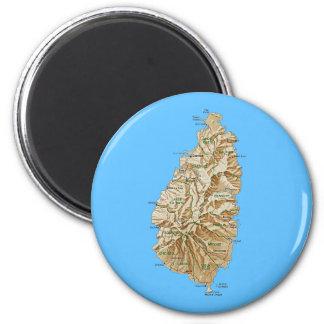 Saint Lucia Map Magnet