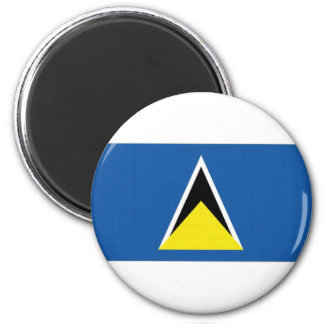 Saint Lucia National Flag 2 Inch Round Magnet