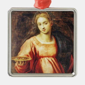 Saint Lucia of SWEDEN and ITALY Metal Ornament