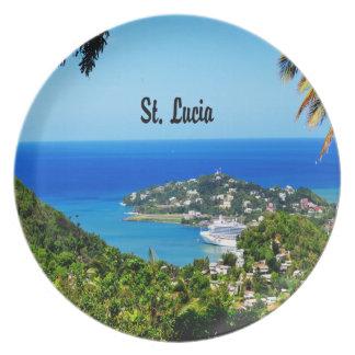 Saint Lucia Plate