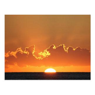 Saint Lucia Sunset Postcard