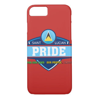 Saint Lucian Pride Logo iPhone case, red iPhone 8/7 Case