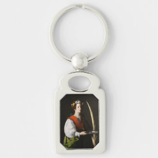 Saint Lucy Keychain - Patroness of the Eyes