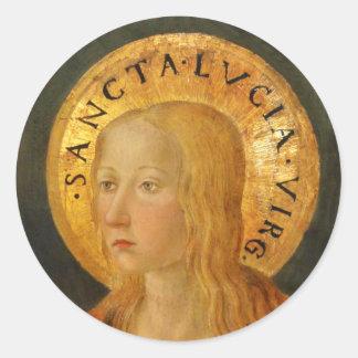 Saint Lucy Lucia c1470 Round Sticker