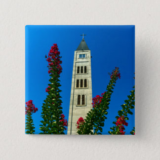 Saint Luke tower in Mostar, Bosnia and Herzegovina 2 Inch Square Button