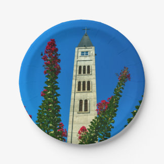 Saint Luke tower in Mostar, Bosnia and Herzegovina 7 Inch Paper Plate
