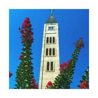 Saint Luke tower in Mostar, Bosnia and Herzegovina Canvas Print