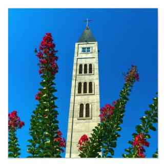 Saint Luke tower in Mostar, Bosnia and Herzegovina Card