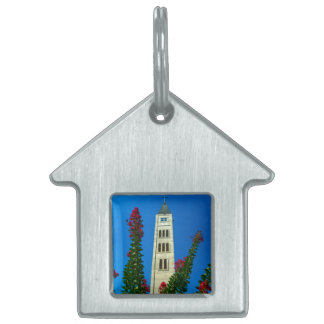 Saint Luke tower in Mostar, Bosnia and Herzegovina Pet Name Tag