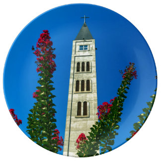 Saint Luke tower in Mostar, Bosnia and Herzegovina Plate