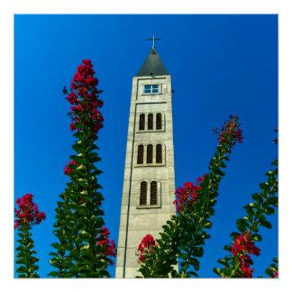 Saint Luke tower in Mostar, Bosnia and Herzegovina Poster