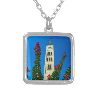 Saint Luke tower in Mostar, Bosnia and Herzegovina Silver Plated Necklace