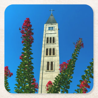 Saint Luke tower in Mostar, Bosnia and Herzegovina Square Paper Coaster