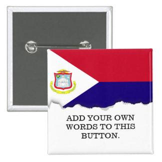 Saint Maarten Flag 2 Inch Square Button