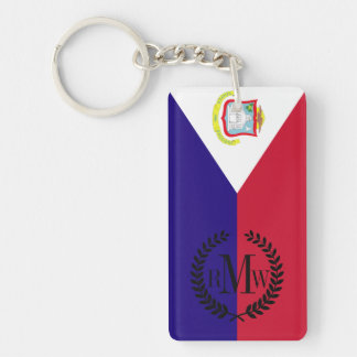 Saint Maarten Flag Double-Sided Rectangular Acrylic Keychain