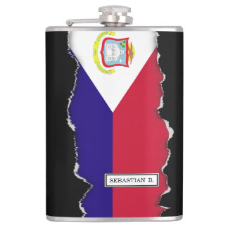 Saint Maarten Flag Flask
