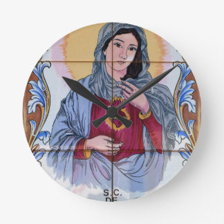 Saint Maria in catholic church Round Clock