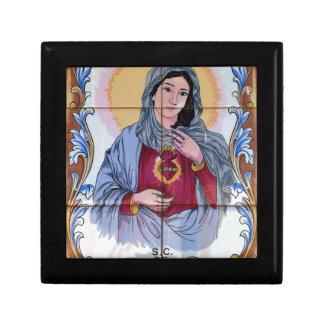 Saint Maria in catholic church Trinket Box