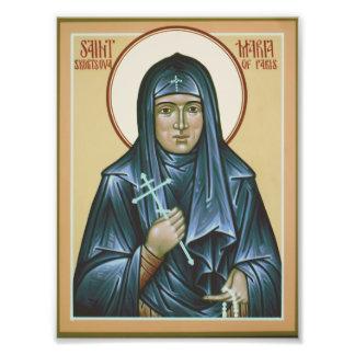 Saint Maria of Paris Icon Print