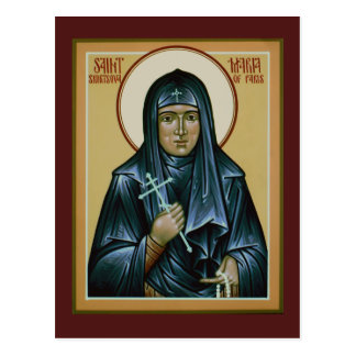 Saint Maria of Paris Prayer Card Postcard