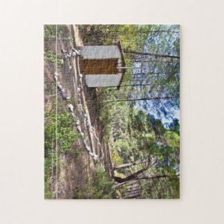 saint Marina chapel at Cyprus forest Jigsaw Puzzle