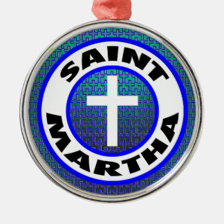 Saint Martha Metal Ornament