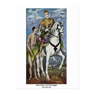Saint Martin And The Beggar By Greco El Postcard