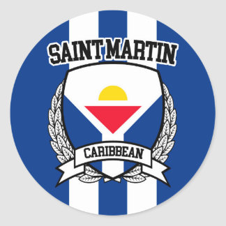 Saint Martin Classic Round Sticker