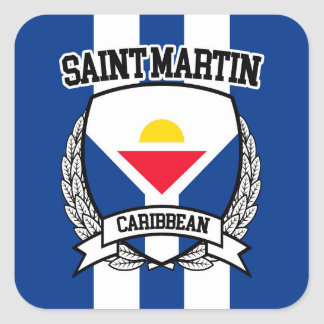Saint Martin Square Sticker