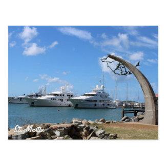 Saint Martin (St. Maarten) Yachts and Coast photo Postcard