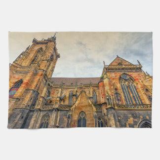 Saint Martin's Church, Colmar, France Kitchen Towel