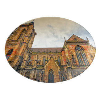 Saint Martin's Church, Colmar, France Porcelain Serving Platter