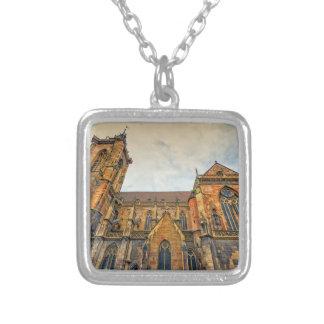 Saint Martin's Church, Colmar, France Silver Plated Necklace