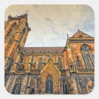 Saint Martin's Church, Colmar, France Square Sticker