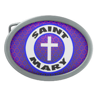 Saint Mary Oval Belt Buckles
