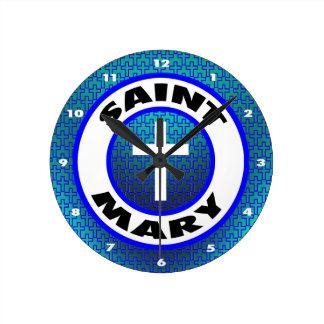 Saint Mary Round Wallclocks