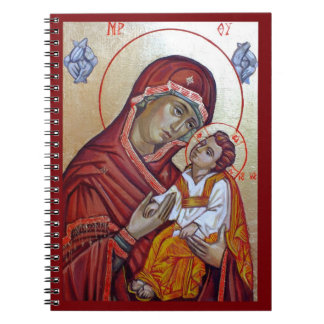 Saint Mary icon Spiral Notebooks
