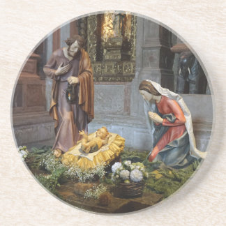 Saint Mary, Jesus and Saint Joseph in Jeronimos Beverage Coaster