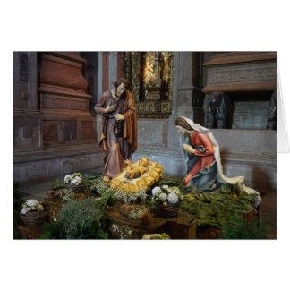 Saint Mary, Jesus and Saint Joseph in Jeronimos Greeting Card