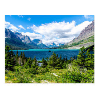 Saint Mary Lake in Glacier National Park Postcard
