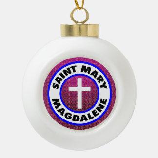 Saint Mary Magdalene Ceramic Ball Ornament