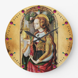 SAINT MARY MAGDALENE  PARCHMENT LARGE CLOCK