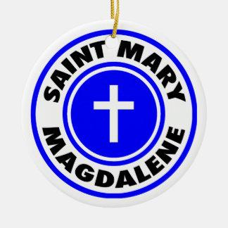 Saint Mary Magdalene Round Ceramic Ornament